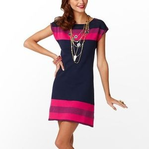 LILLY PULITZER Kinley Navy Stripe Sweater Dress